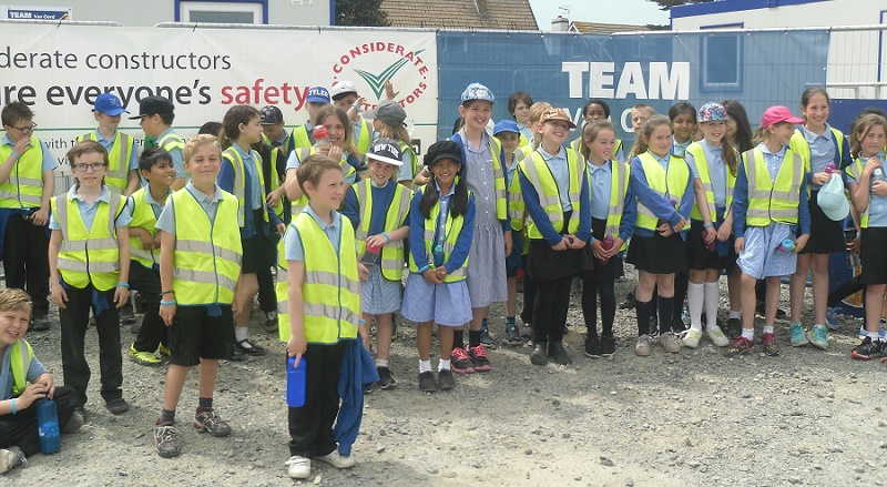 Mackley shoreham school visit2